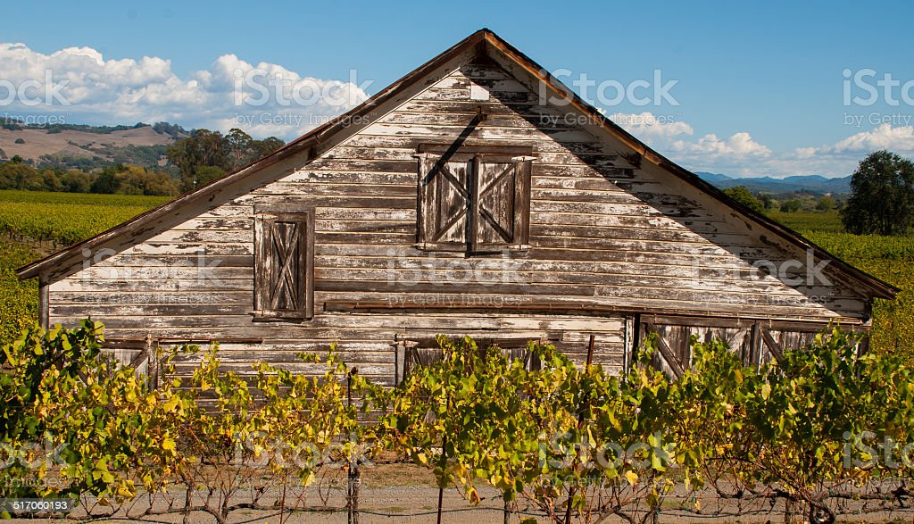Old Barn Westside Road Russian River Sonoma County California stock photo