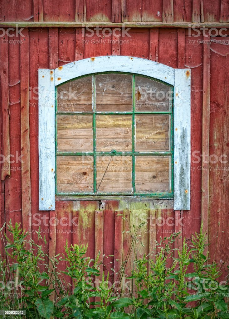 Old Barn Window stock photo