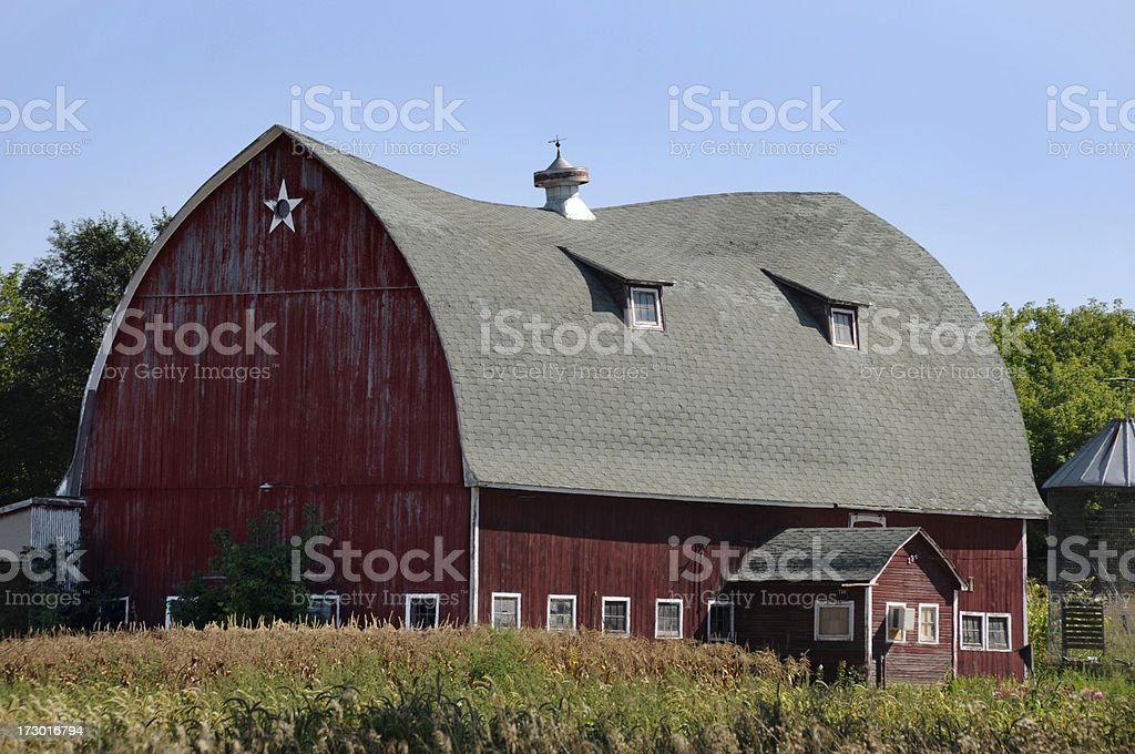 Old Barn With Sagging Roof royalty-free stock photo