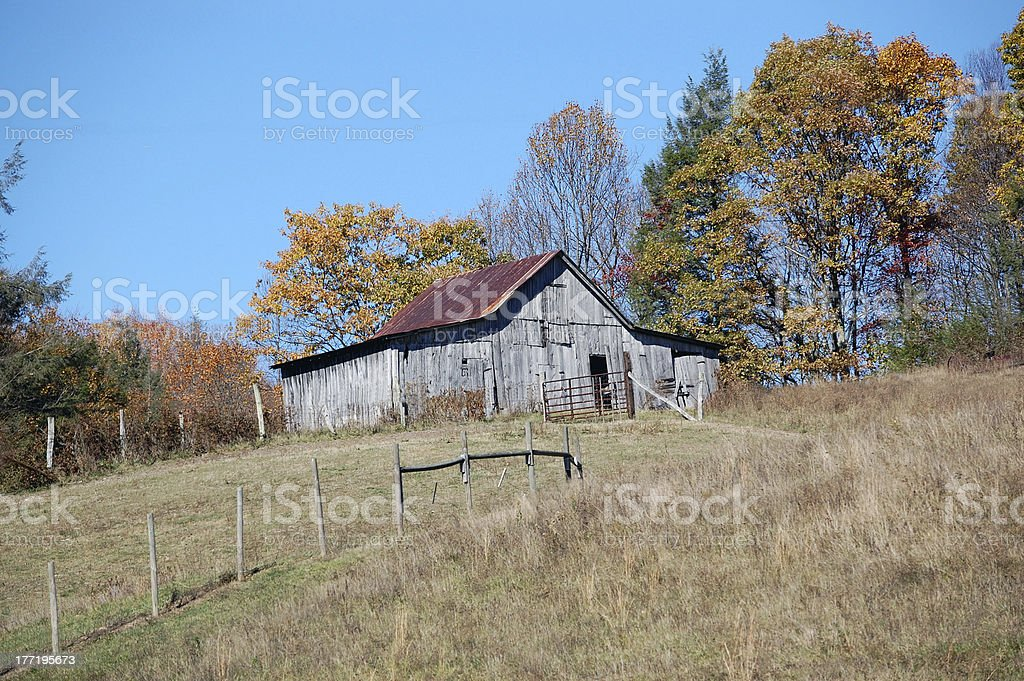 Old Barn with tin roof royalty-free stock photo