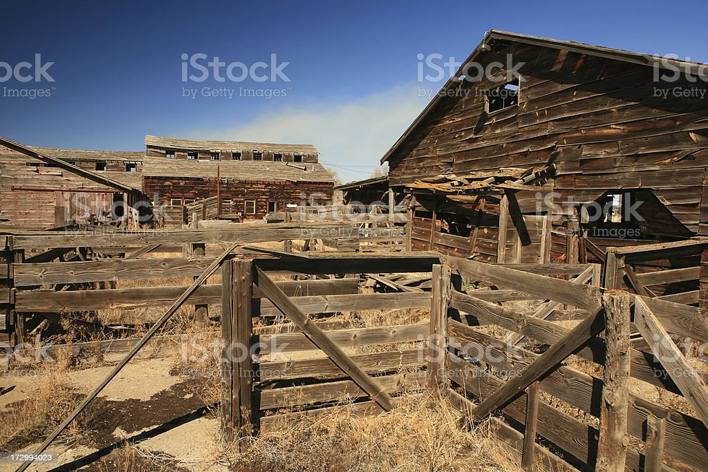 Old barns of America royalty-free stock photo