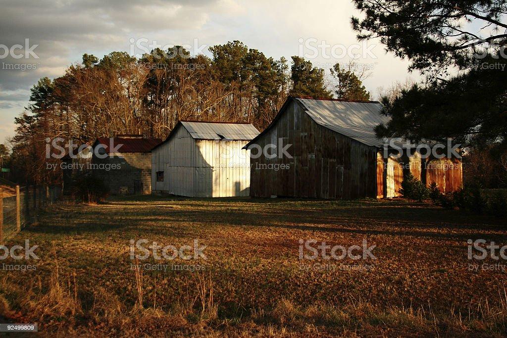 Old Barns royalty-free stock photo