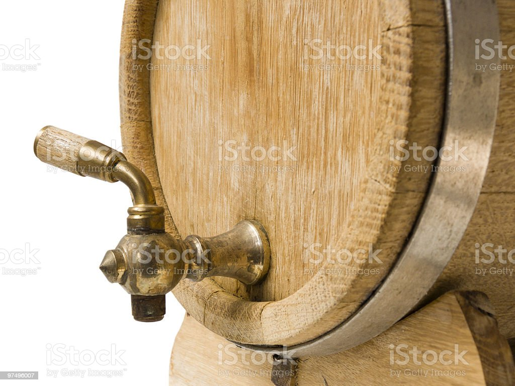 Old barrel for wine royalty-free stock photo