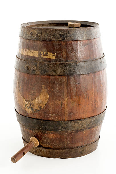 old barrel stock photo