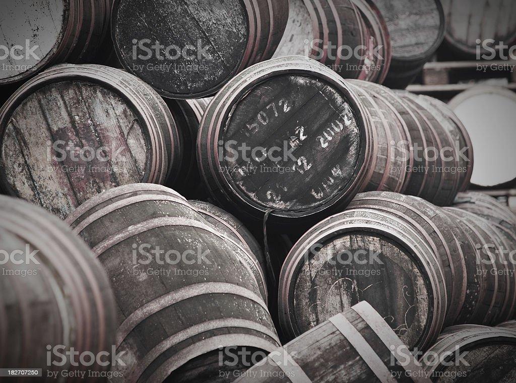 Old Barrels stock photo