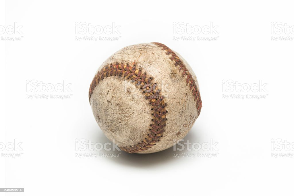 old baseball ball stock photo