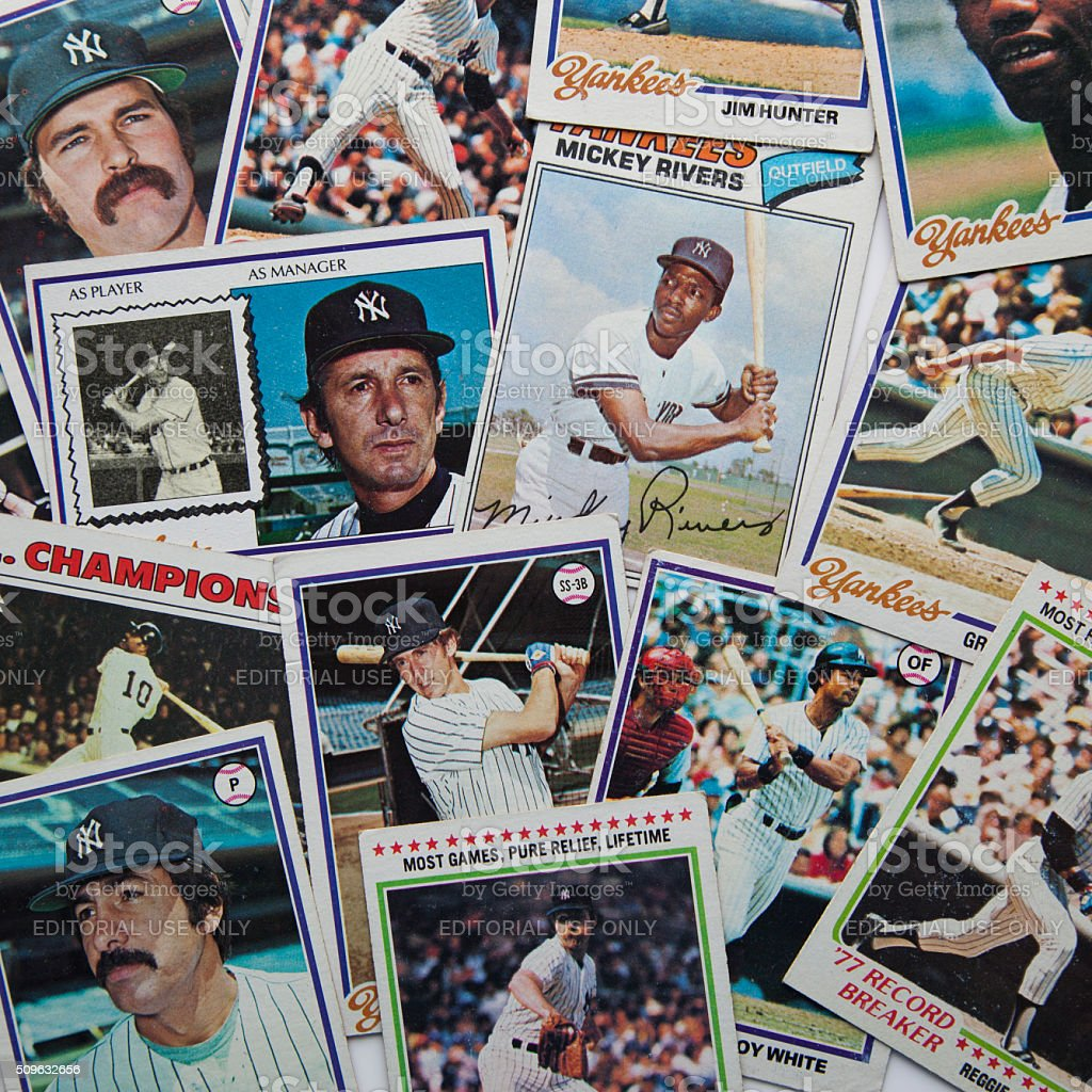 Old Baseball Cards Stock Photo Download Image Now Istock