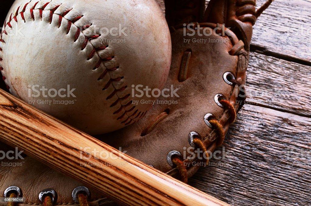 Old Baseball Equipment royalty-free stock photo