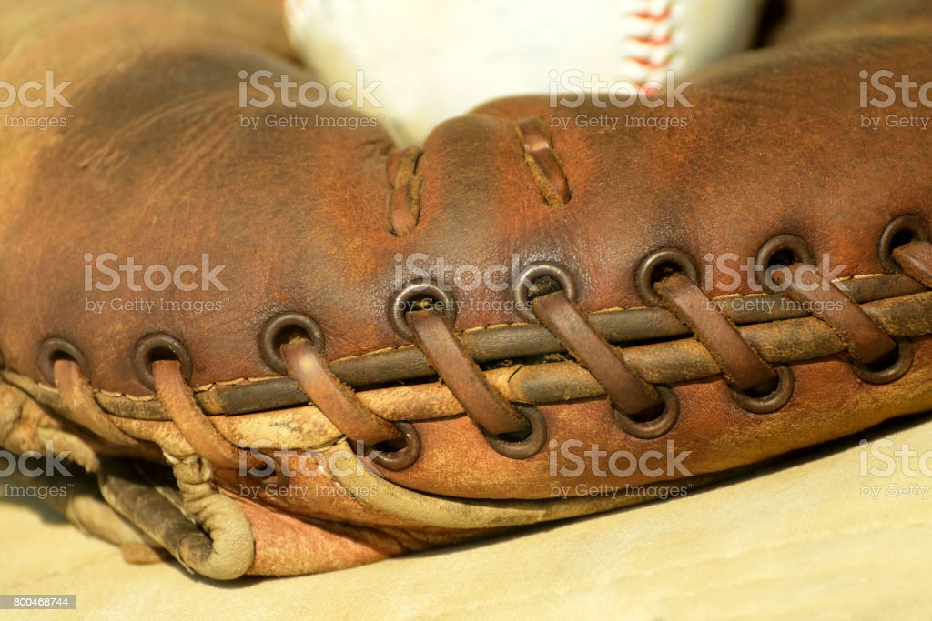Old Baseball Glove Abstract stock photo