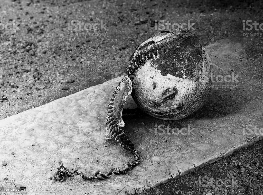 Old baseball monochrome stock photo