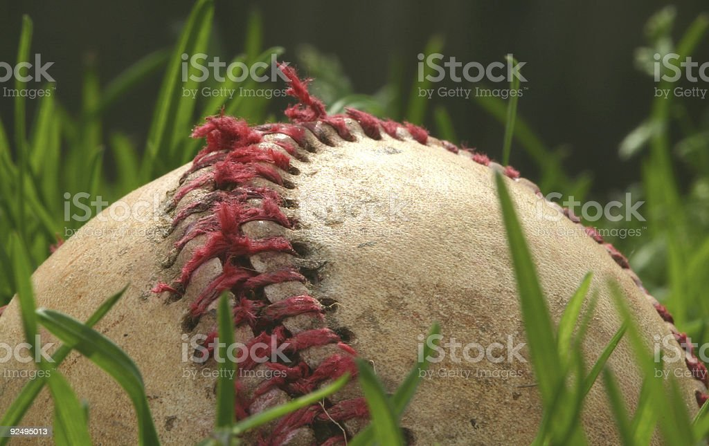 Old baseball #3 royalty-free stock photo