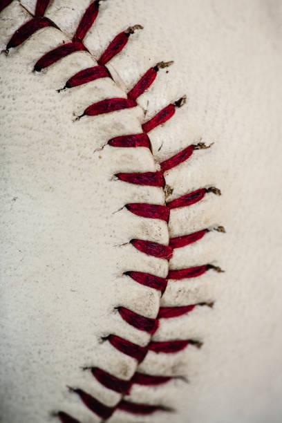Old Baseball Texture stock photo