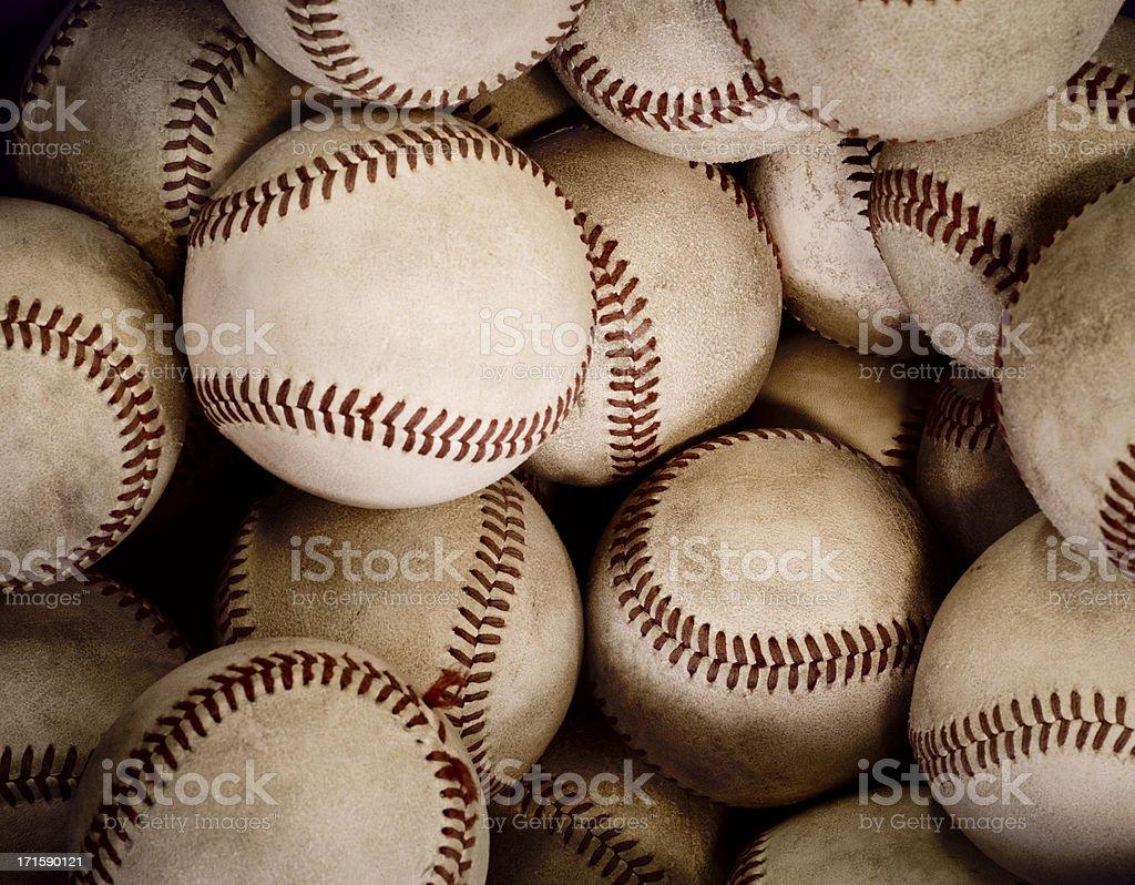 Old Baseballs stock photo