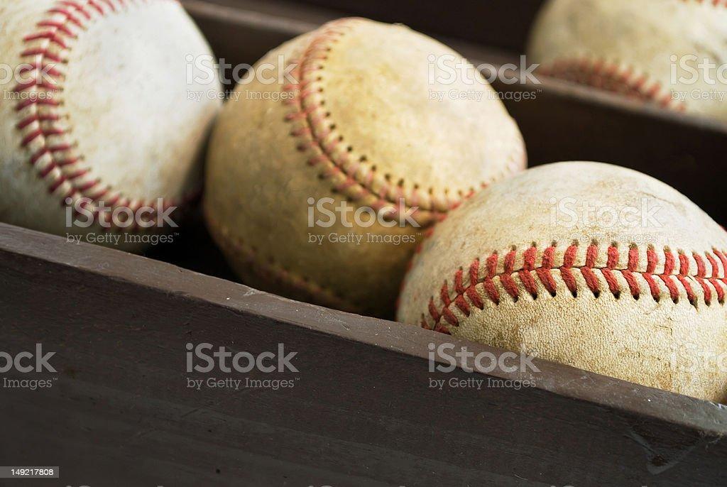 old baseballs-2 royalty-free stock photo