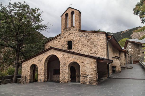 Old Basilica of Meritxell stock photo