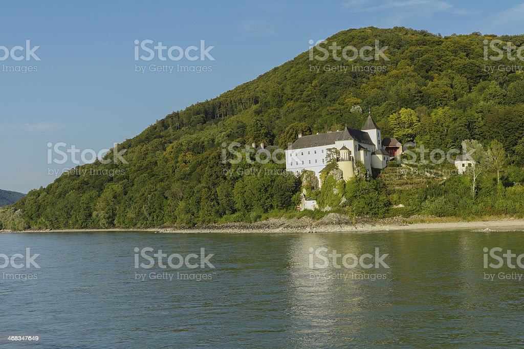 old basilika church near melk city of austria royalty-free stock photo