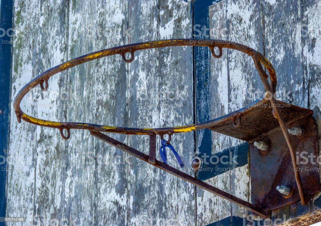 Alte Korb Hoop. - Lizenzfrei Alt Stock-Foto