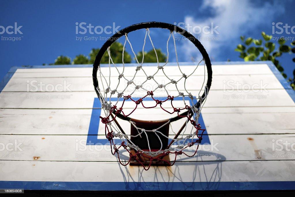 Old basketball backboard royalty-free stock photo