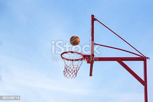 istock old basketball hoop, 852438718