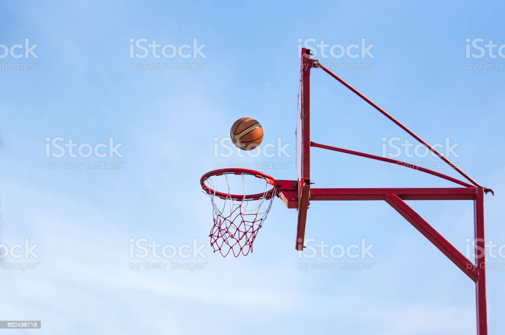 old basketball hoop, stock photo