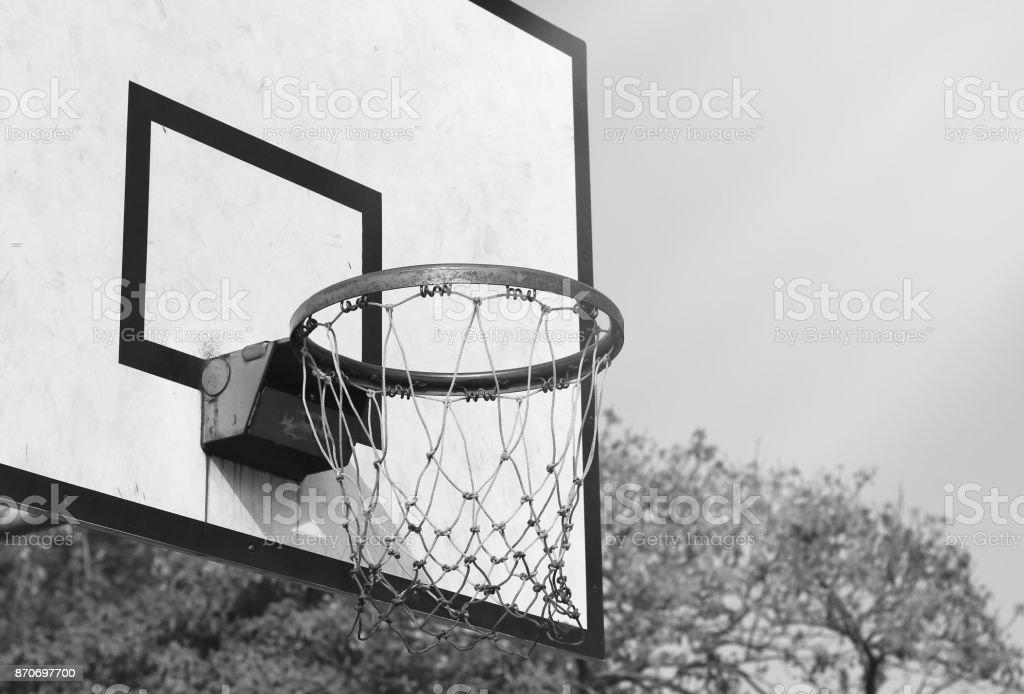 Old basketball hoop Style stock photo
