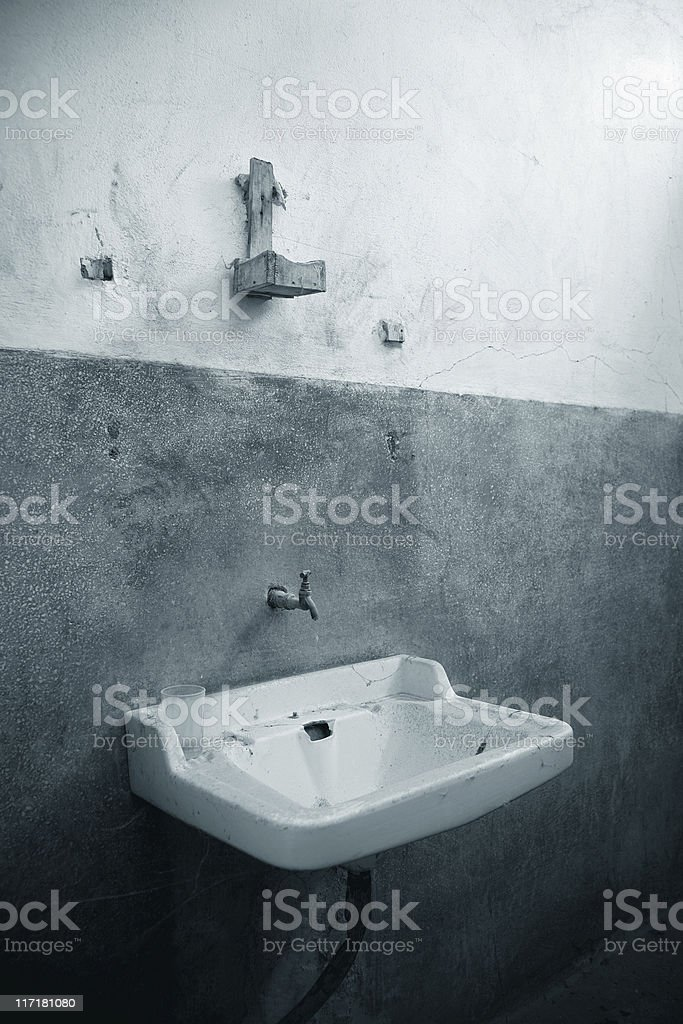 Old bathroom royalty-free stock photo