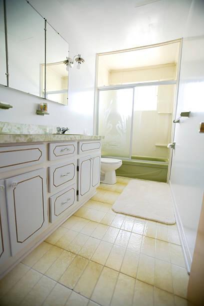 Old bathroom stock photo