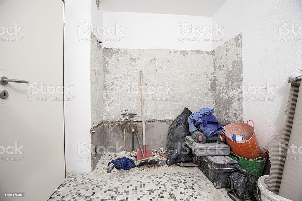 Old bathroom/bathtub to be renovated royalty-free stock photo