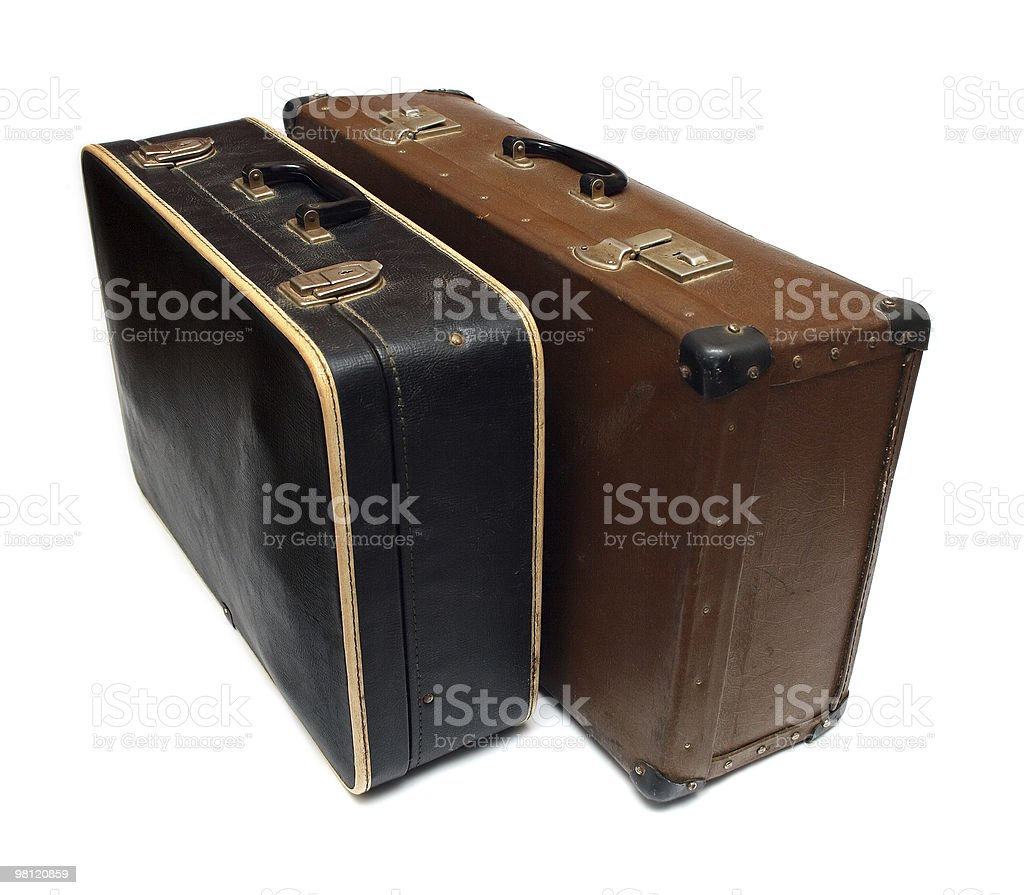 old battered cases royalty-free stock photo