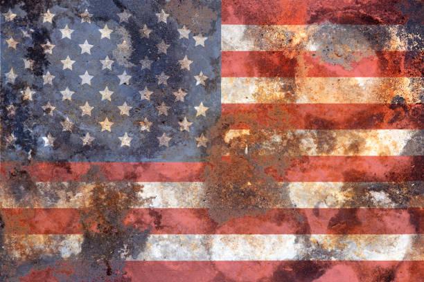 alte BatteredUSA Flagge rostig und Grunge – Foto