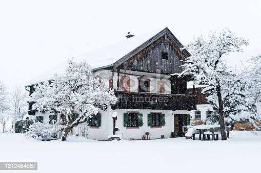 Nice old Bavarian farmhouse with traditional religious paintings, built in 1822.