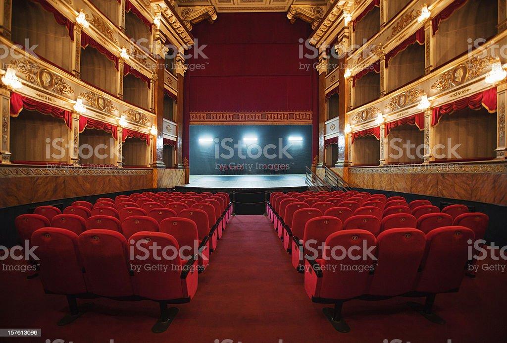 old beautiful theatre stock photo