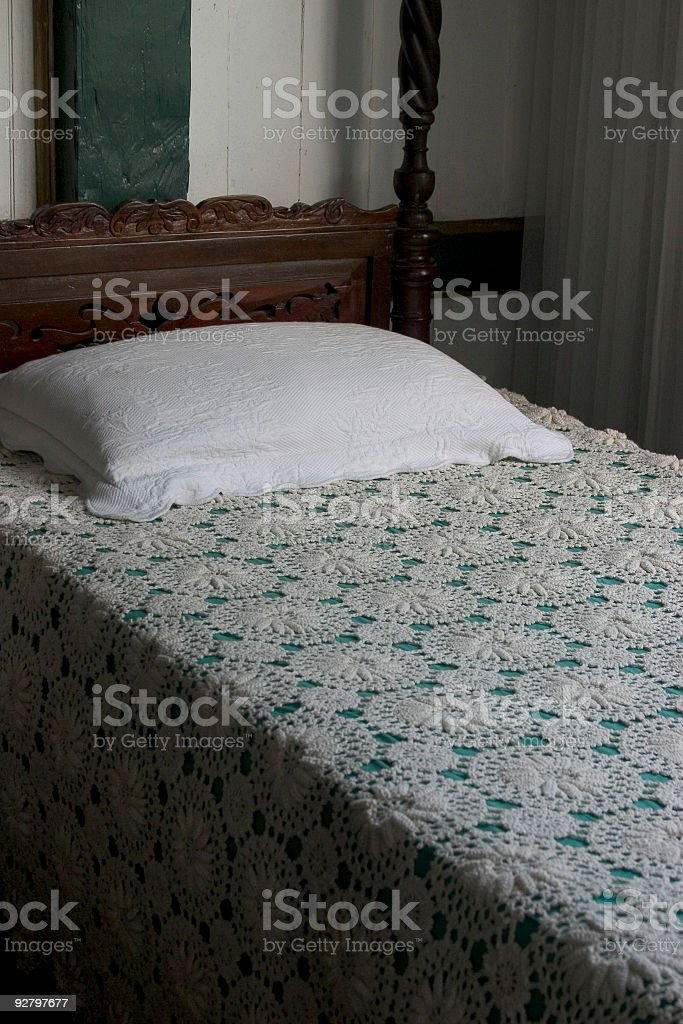 Old Bed royalty-free stock photo