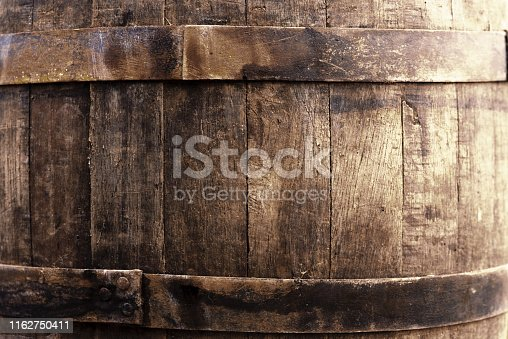 Old beer oak barrel texture