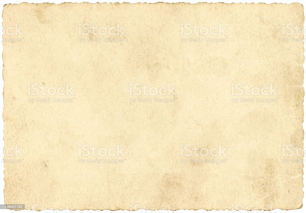 Old beige paper stock photo