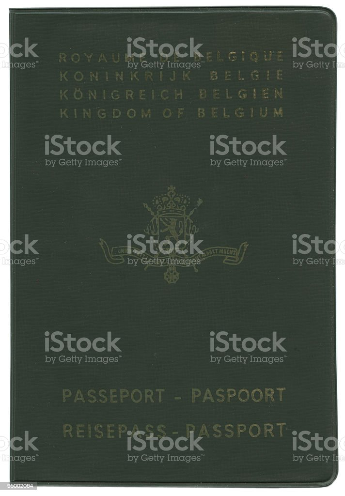 Old Belgian passport royalty-free stock photo