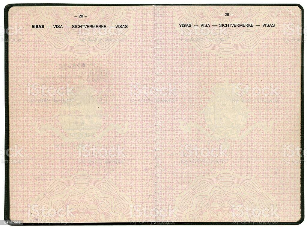 Old Belgian passport royalty-free stock photo