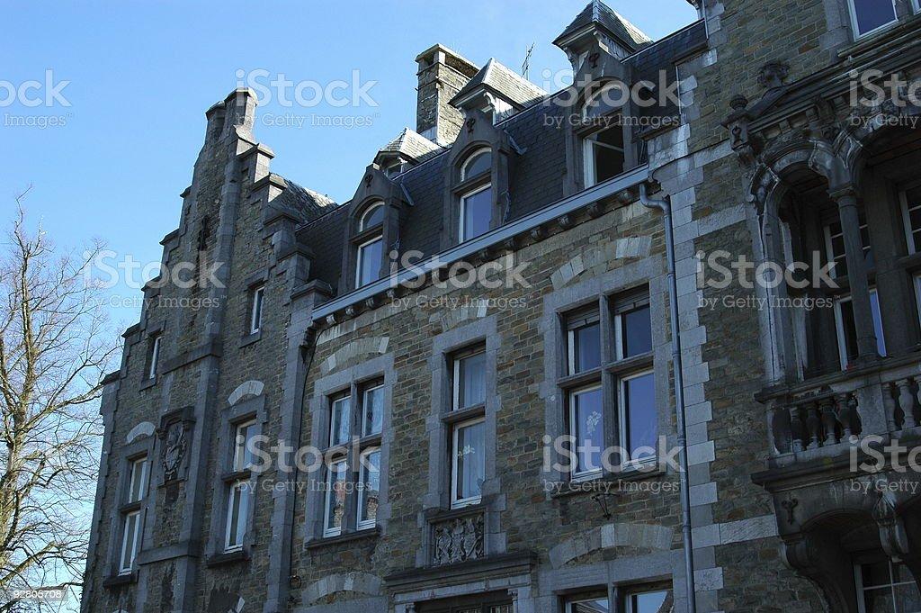 Old belgian quaint village royalty-free stock photo