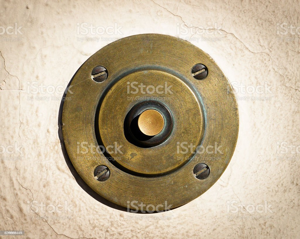 old bell button stock photo