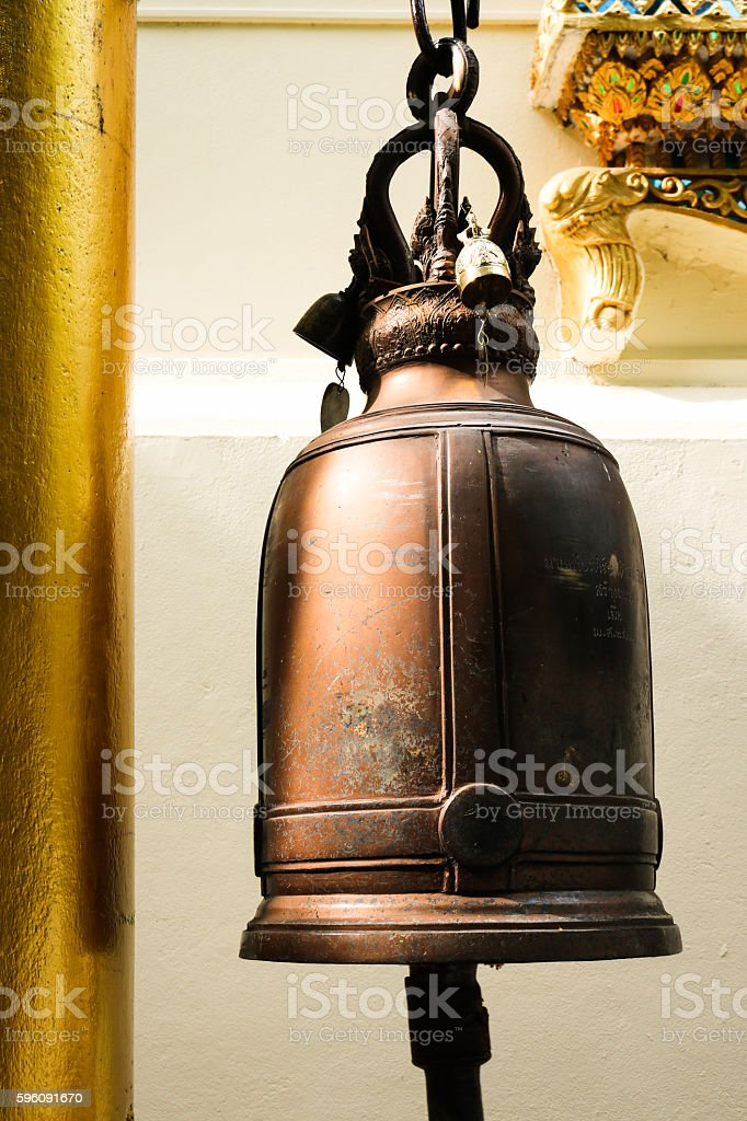 Old bell in temple Chiangmai, Thailand. royalty-free stock photo