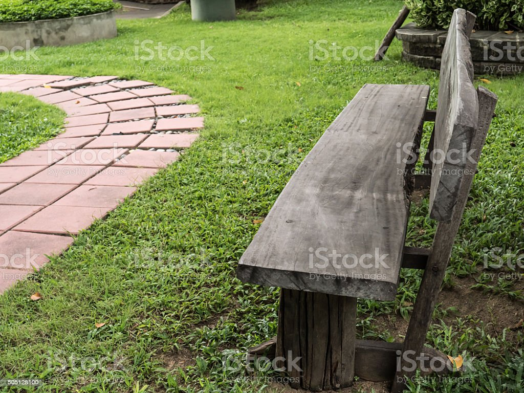 Prime Old Bench In Garden Stock Photo Download Image Now Cjindustries Chair Design For Home Cjindustriesco