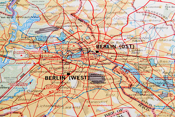 east germany map videos old berlin stock photo