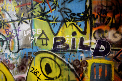 Old berlin wall graffiti