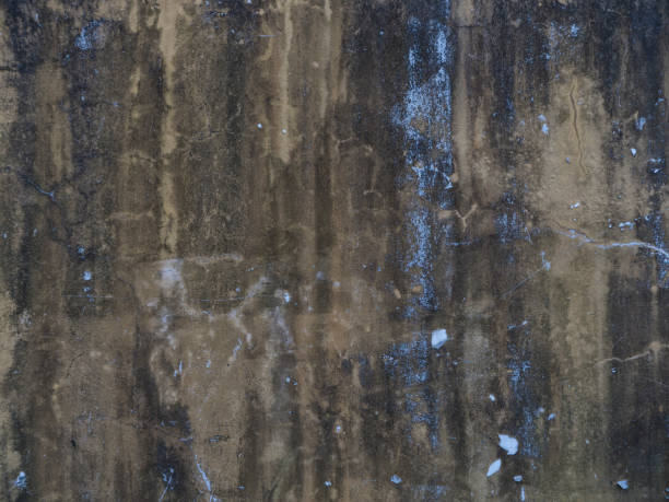 Old beton wall as a background texture wit brown and blue color stock photo