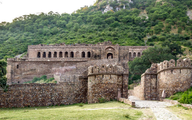 old Bhangarh Fort in India old Bhangarh Fort in India under blue sky bhangarh fort stock pictures, royalty-free photos & images