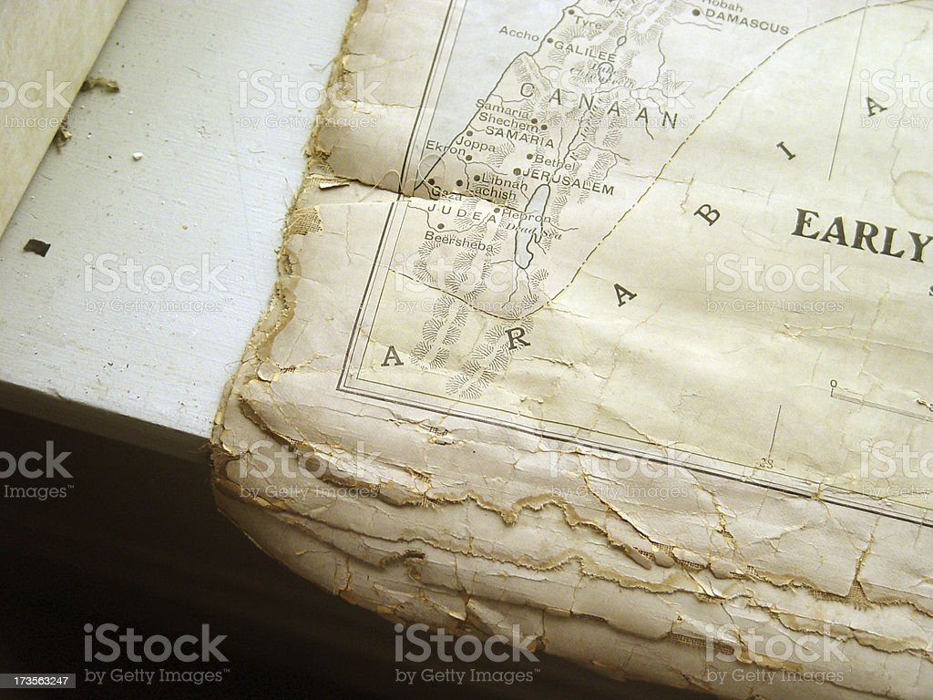 Old Biblical Map royalty-free stock photo