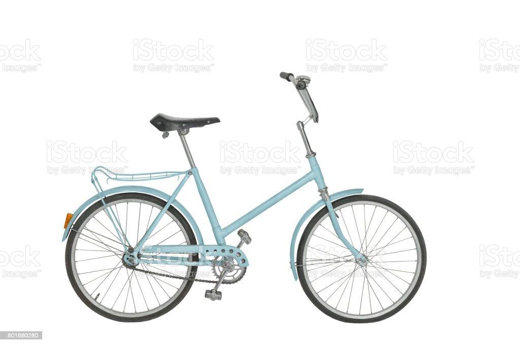 Vieja bicicleta sobre fondo blanco - foto de stock