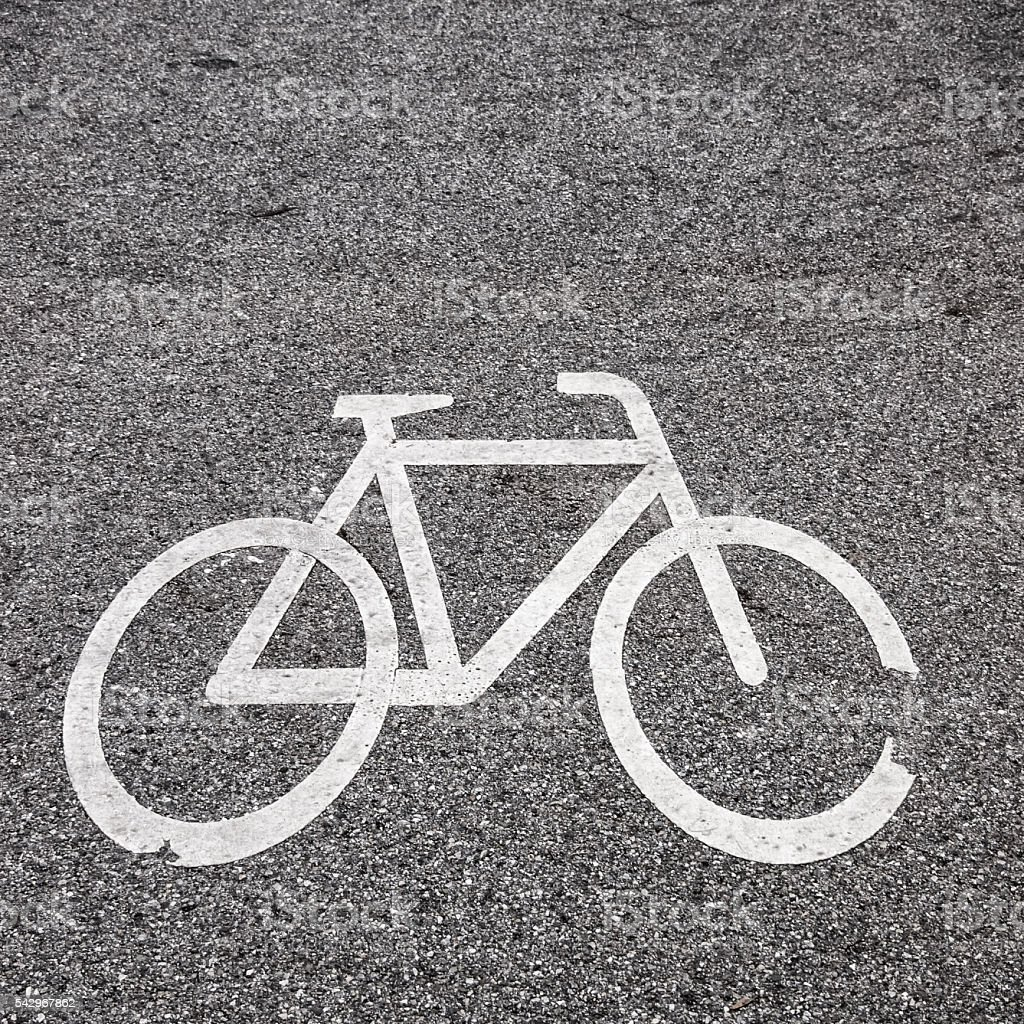 Antiga placa de bicicleta - foto de acervo