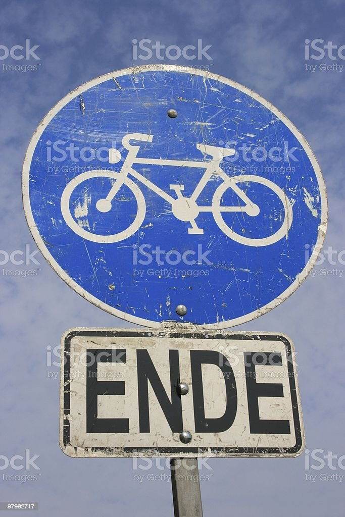 old bicycle sign royalty-free stock photo
