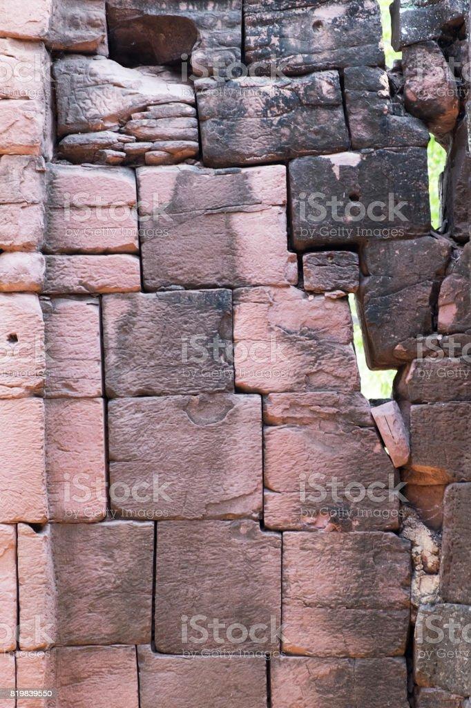 Old big brick wall background stock photo
